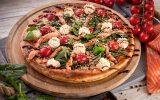 Пицца с копченым лососем и сыром Филадельфия 30см